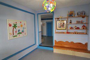Hall de entrada de la Escuela Infantil Bambú de Alcobendas
