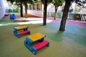 Jardín de la Escuela Infantil Bambú de Alcobendas
