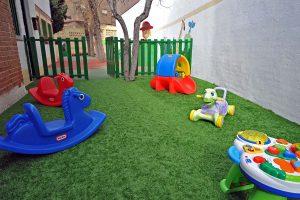 Espacio exterior de juego de la Escuela Infantil Bambú de Alcobendas