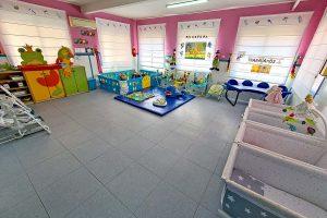 Aula de los pollitos de la Escuela Infantil Bambú de Alcobendas